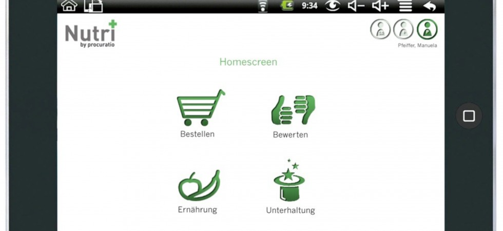 Nutri+ Homescreen
